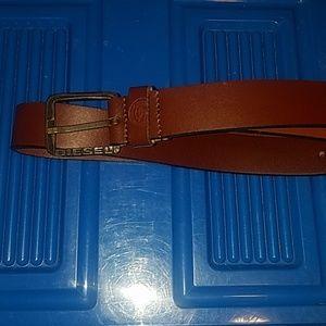 Mens Diesel leather belt 36in/90cm